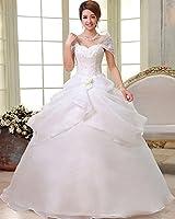 HS203-W オリジナルデザイン2016 ウェディングドレス.ドレス.Aライン.プリンセス.マタニティ.マーメイド.結婚式.演奏会.二次会.ウエディングドレス.ブライダル・大きいサイズ~7L (7L)