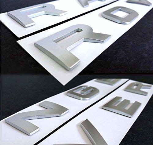 Insignia para capó/maletero con letras en 3D de RAN GE ROV ER Sport Evoque Velar, color plateado mate.
