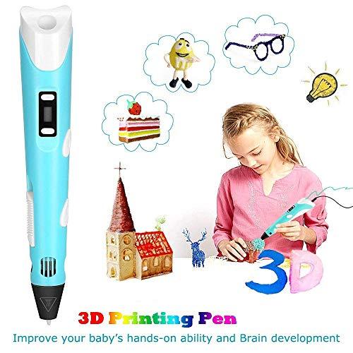 StillCool 3D-Zeichnung Druck 3D Stift gifts LCD-Display for kids & adults Zeichnung und Kunst & handgefertigte Werke Doodle Puzzle Spielzeug - 4