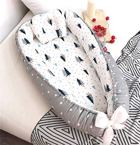 YYhkeby Bebé Tumbona portátil Unicornio Imprimir bebé Nido del niño recién Nacido colecho cunas portátiles (Color: Rosado de la Nube, Tamaño: Medio) Jialele (Color : Green Forest, Size : Middle)