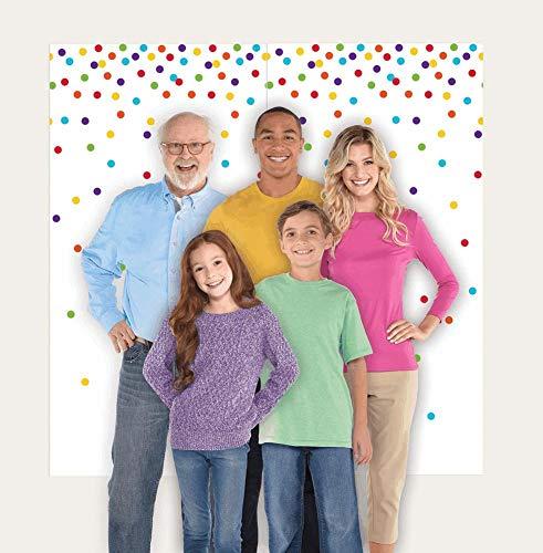 Rainbow Dots Party Scene Setters, 65' x 32.5', 2 Pc.
