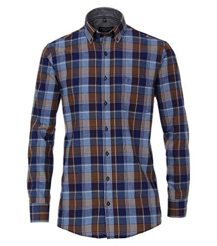 Casa Moda - Comfort Fit - Bügelleichtes Herren Hemd mit Button Down-Kragen (493313000), Größe:XXL, Farbe:Blau (100)
