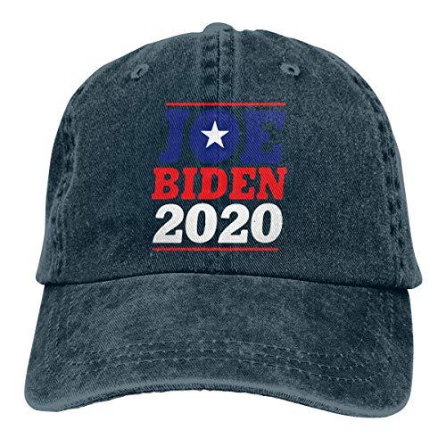 XCNGG Joe-Biden 2020 Sombreros de Vaquero Unisex Sombrero de Mezclilla Deportivo Gorra de béisbol Ajustable Negro