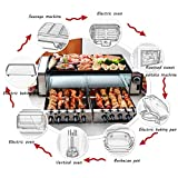 HOSUAI Barbacoa Raclette, Parrilla Sin Humo,Parrilla, 1500 W, Grill De Sobremesa, Barbacoa-Party, Control De Temperatura