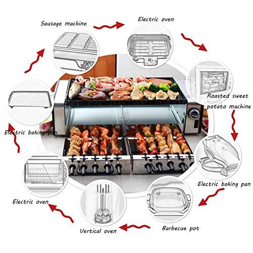 Raclette-Rauchlos BBQ Grill Mit Heißem Stein Zum Grillen Und Überbacken,Automatische 360 °, Antihaftbeschichtet 1500W