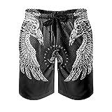 Josephion Pantalones cortos de playa Viking Odin con bolsillo para hombre