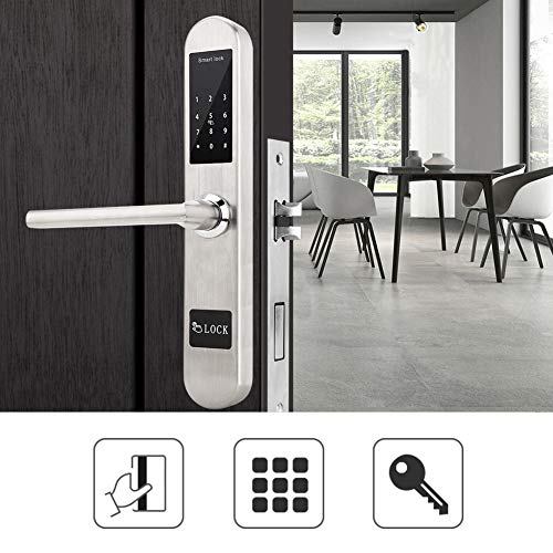 Cerradura de puerta inteligente, teclado de pantalla táctil antirrobo