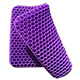 Gel Seat Cushion for Long Sitting,Office Chair ,Gaming Chair Double Thick Royal Ultimate Seat Cushion for Kitchen Chair, Simply Chair Cushion Egg Cushion, Wheelchair, Breathable Honeycomb Portable