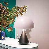 IREANJ Creative Art Postmodern - Lámpara de mesa de seta pequeña cola para hotel, dormitorio, estudio, lámpara de escritorio ajustable, tres colores, 30 x 43 cm de alto gusto
