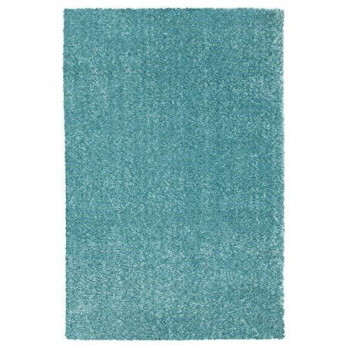 Ikea Tapis long à poils courts Turquoise 60 x 90 cm