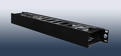 Raising Electronics 1U Horizontal Rack Mount Cable Management Unit with Panel Plastic 19