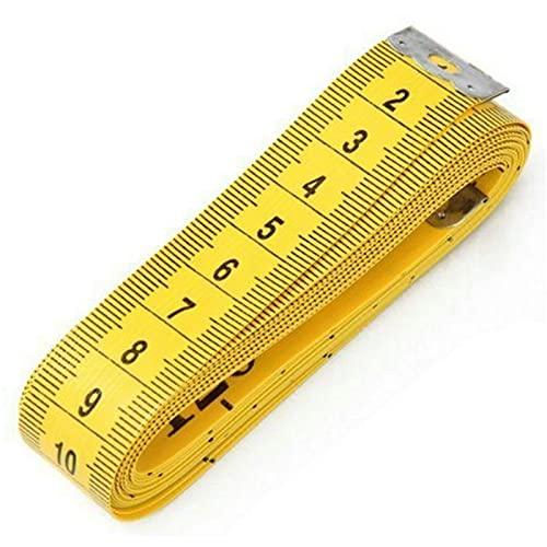 kengbi Cinta métrica amigable y fácil de Usar Top Calidad Duradero Suave 3 Metros 300 cm Coser Tailor Cinta MEDICIÓN MEDICIÓN Medida Mantenimiento DRESSTAKING (Color : Yellow)