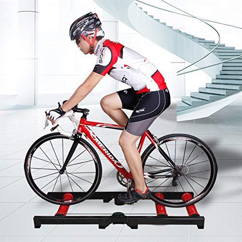 LYzpf Indoor Rodillo Entrenamiento Bicicleta Accesorios De Carretera Montaña Reducción Ruido Plegables...