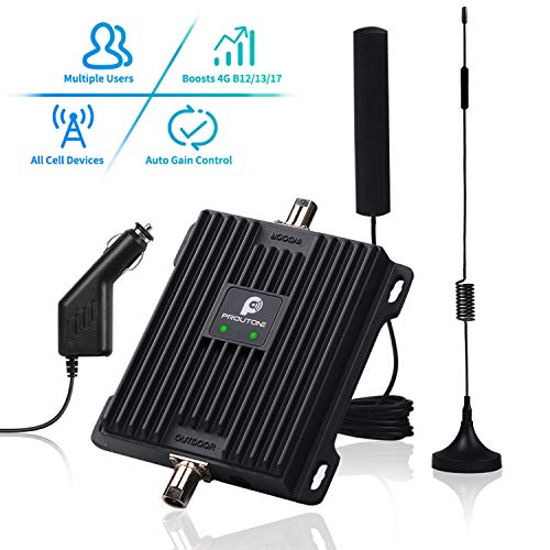 Cell Phone Signal Booster for Car, Truck and RV - Band 12/13/17 Mobile Cellular Repeater Boosts 4G...