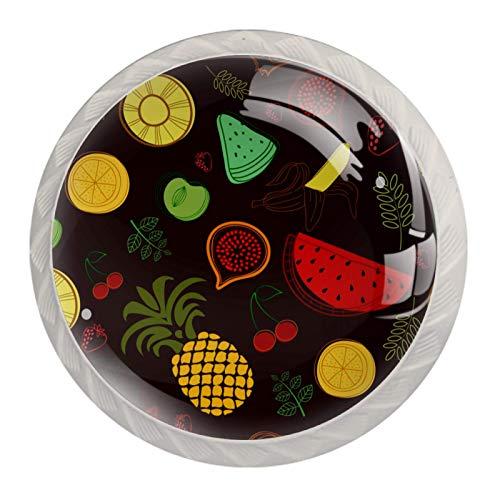 Schubladengriffe mit Obstmuster, für Schrank, Tür, Kleiderschrank, Schrank