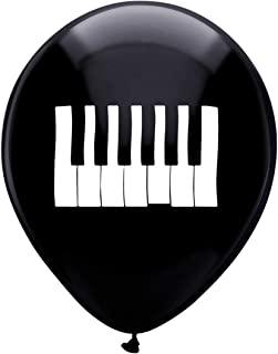 Piano Party Latex Balloons, 16-Pack 12inch Music Birthday Party Decorations, Supplies