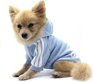 QiCheng&LYS Adidog Pet Clothes,Dog Winter Hoodies Apparel Puppy Cute Warm Hoodies Coat Sweater for Dog Cat