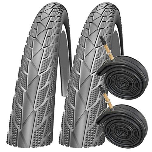 Impac Streetpac 26' x 1.75 Mountain Bike Tyres with Presta Tubes (Pair)