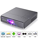 OTHA Pico Projector,400 ANSI Lumen Outdoor Movie Portable Projector Support 1080P/3D /300 Inch DLP Picture,Dual Hi-Fi Speaker for Home Theater,30,000 Hours Lamp Life-Android Smart Mini Projector