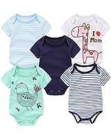 Little Inventor Unisex Baby Bodysuit 5-Pack Short Sleeve Onesies Baby Bodysuits