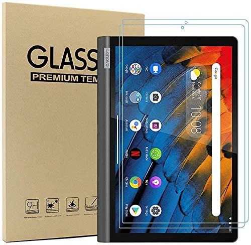 MI-KOU Protector de Pantalla para Lenovo Yoga Smart Tab 10.1 Pulgadas, Protector de Pantalla de Vidrio, dureza 9H, Anti-Rayado, Anti-Aceite, Anti-Burbujas, Borde Redondeado 2.5D, [2 Piezas]