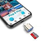 Lettore di schede Micro SD per Phone / Pad, Alluminio to Micro SD Card Reader Camera, Trail Game Camera Memory Card Reader per Micro SD Card / TF Card, Plug and Play