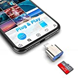 Lettore di schede Micro SD per Phone / Pad, Rocketek Alluminio to Micro SD Card Reader Camera, Trail Game Camera Memory Card Reader per Micro SD Card / TF Card, Plug and Play