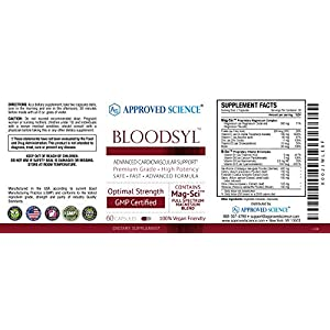 Approved Science® Bloodsyl™ - Blood Pressure and Cholesterol Support - 60 Vegan Friendly Capsules - 1 Bottle