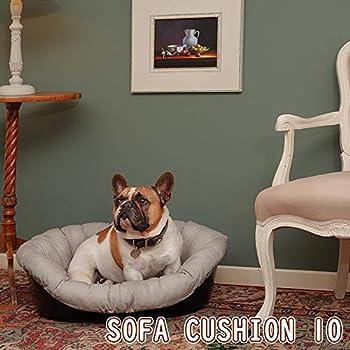 Coussin Ferplast pour Chien et Chats Coussin Sofa' 10 Coussin de Rechange Rembourré pour Corbeille en Plastique, Coton Doux Lavable, Réglable avec Cordon Élastique, 96 X 71 X H 32 cm Gris