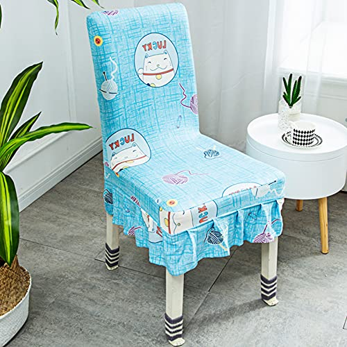 Fundas para sillas de comedor, fundas para sillas elásticas de animales de dibujos animados, fundas para sillas elásticas lavables de elastano suave para comedor, sala de estar, cocina, hotel