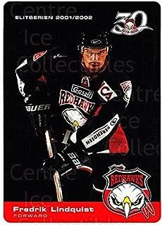 (CI) Fredrik Lindquist Hockey Card 2001-02 Swedish Malmo Redhawks Team Issue 7 Fredrik Lindquist