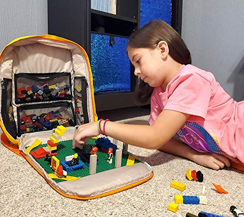 Cortex Toys Block Pack With Building Plate – Toy Backpack For Building Blocks – Clever & Safe Construction Toys Storage Backpack – Carry, Organize & Store Interlocking Building Blocks - Unisex