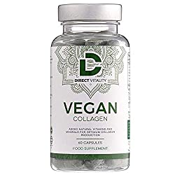 Direct Vitality: 60 capsules, added natural vitamins and minerals for collagen production.