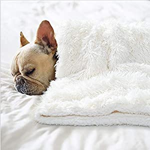 BENRON Premium Fluffy Pet Blanket for Small Medium Large Dogs, Cozy Reversible Sherpa Dog Blankets, Machine Washable, Soft, Warm Pets Throw Blanket