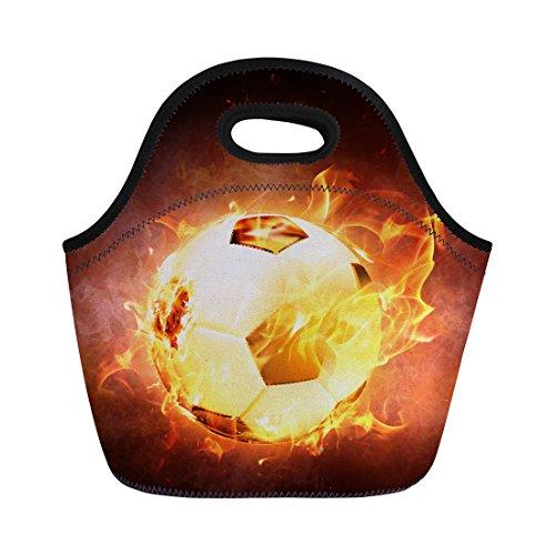 Coloranimal, einzigartige Thermo-Lunch-Tasche für Kinder mit American-Football-Motiv Casual Soccer Lunch Bag-2