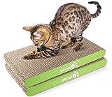 Pecute Rascador para Gatos con Catnip Alfombrillas de Carton Rascador de Gato de Repuesto 2 Piezas