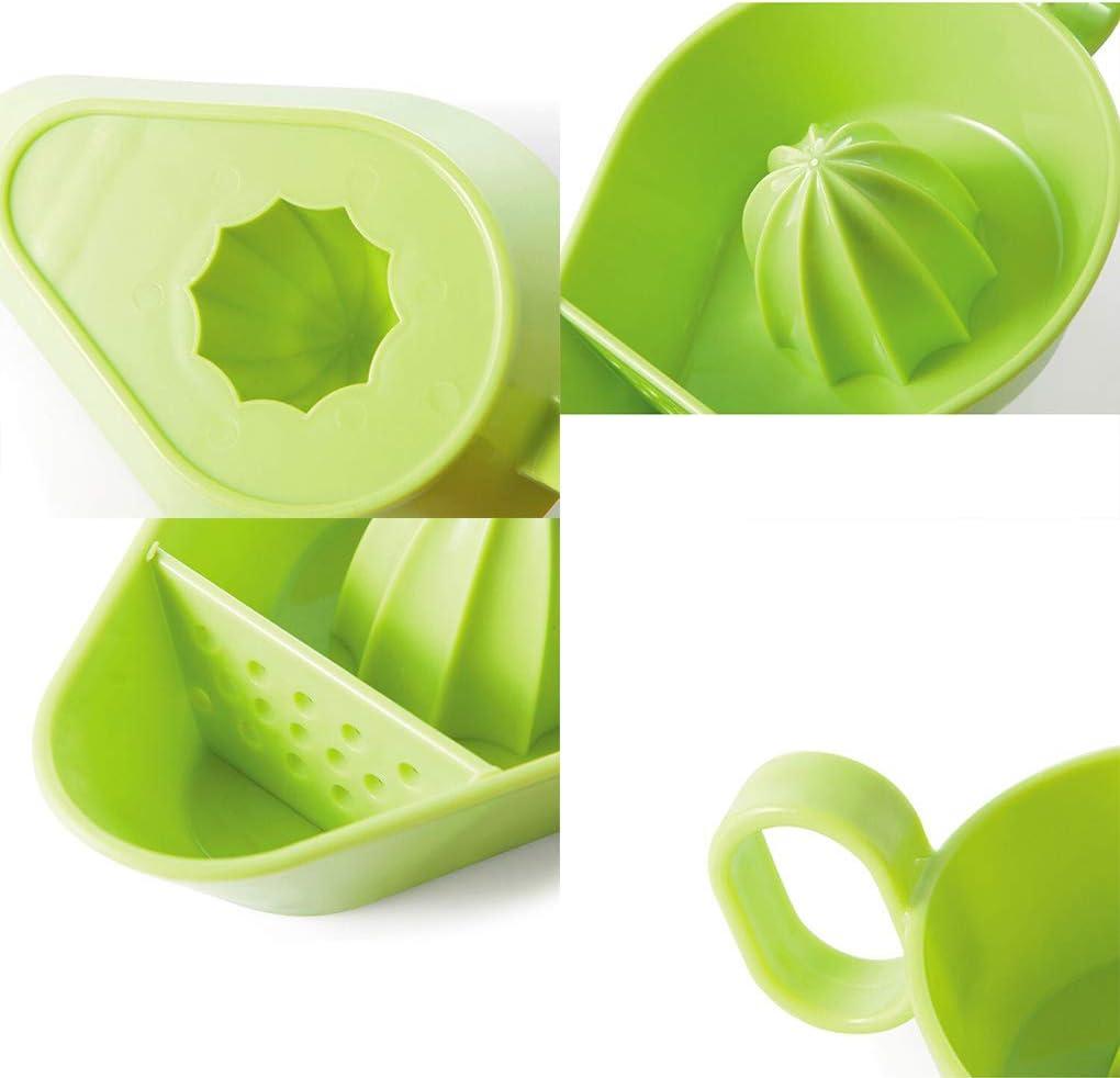 Exprimidor manual para el hogar de la cocina de ahorro de espacio portátil de limón naranja exprimidor de frutas cítricos herramienta fácil de limpiar (azul) Verde