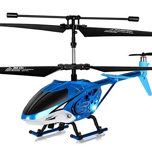 Lihgfw Alloy afstandsbediening vliegtuigen Bestand tegen onbemande helikopter opladen Vliegtuigen Boy Kinderen Speelgoed verdikking Head Blue