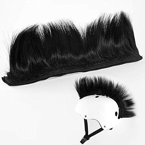Gaoominy Mohawk, accesorio de peluca Warhawk, adhesivo para casco, para bicicleta, casco, casi motocicleta, diseño reutilizable