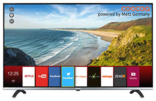 Coocaa 43Q2014G 43 Zoll Smart UHD Fernseher (109 cm), rahmenloses Design, Triple Tuner, Netflix, YouTube (HDMI, CI-Slot, USB, digital Audio)
