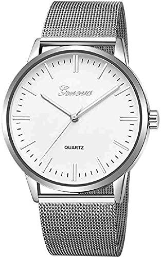 Mano Reloj Reloj de pulsera Slim Women Watch Banda de malla Acero inoxidable Analógico Reloj de pulsera de cuarzo de lujo Minimalista Minimalista Relojes de rosa de plata Relojes Decorativos Casuales