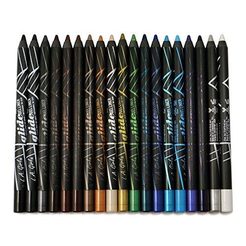 19pc LA Girl Gel Glide Eyeliner Pencil set of 19 color #GP351-369