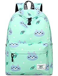 powerful Book bags for teens, cute laptop backpacks with cats, fish school bags travel backpacks handbags …