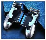 WQAZ Joystick de Juego Controlador de Seis Dedo PUBG PUBG Dibujo Movimiento Gambet GIBPAD L1R1 Fuego Objetivo botón Joystick Tablet FPS Mango de Juego Alta precisión y fácil de Usar. (Color : Silver)