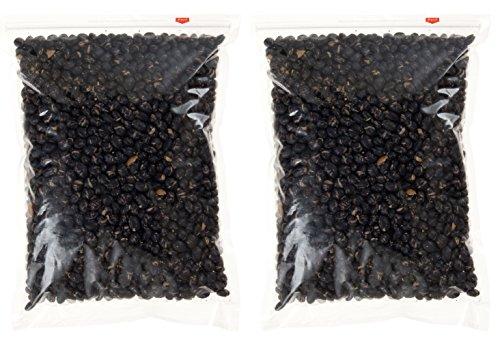 北海道産 煎り黒豆 1kg (500g 2袋入り)