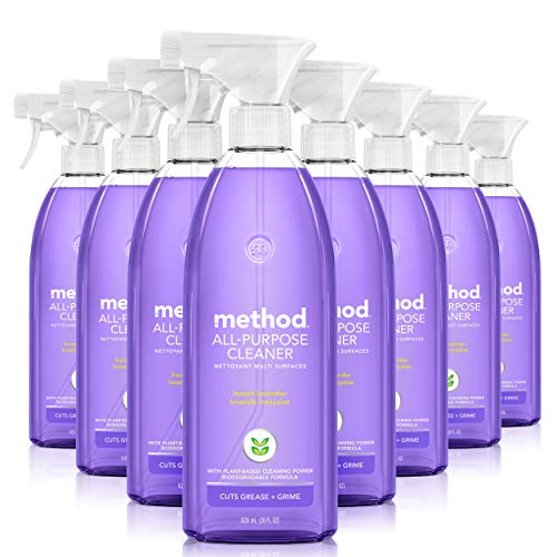 Method All-Purpose Cleaner, French Lavender, 28 Ounce, 8 pack, Packaging May Vary