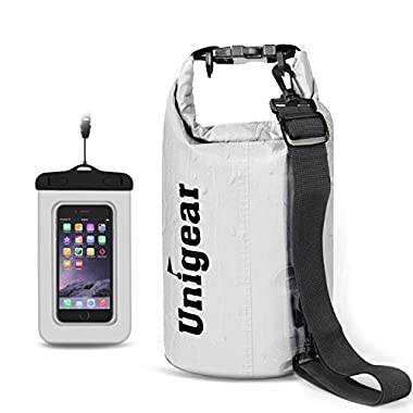 Unigear 5L/10L/20L/30L/40L 600D Dry Bag Sack, Waterproof Floating Dry Gear Bags for Boating, Kayaking, Fishing, Rafting, Swimming, Camping and Snowboarding (White, 20L)