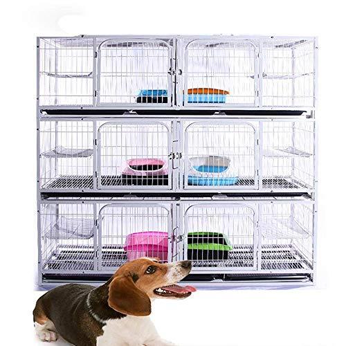 Caja de la Jaula de la Jaula de Perro multifunción para Las Mascotas del Gato con la Bandeja de la casa de Perro Fuerte de Servicio Pesado con la Perrera del Animal doméstico,B