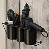 JackCubeDesign Hair Dryer Holder Hair Styling Product Care Tool Organizer Bath Supplies Accessories Tray Stand Storage Bathroom Steel Hair Dryer Holder(Black) MK470B