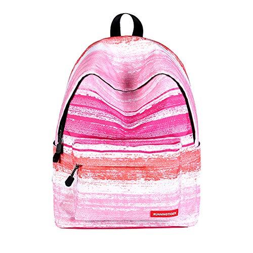Dosige 1 Stück Rucksäcke Schule, Galaxy Drucken Laptop Rucksack Oxford Teenager Mädchen Damen Schulrucksack Schultasche Satchel Hiking 40 * 30 * 17cm Gestreiftes Pulver
